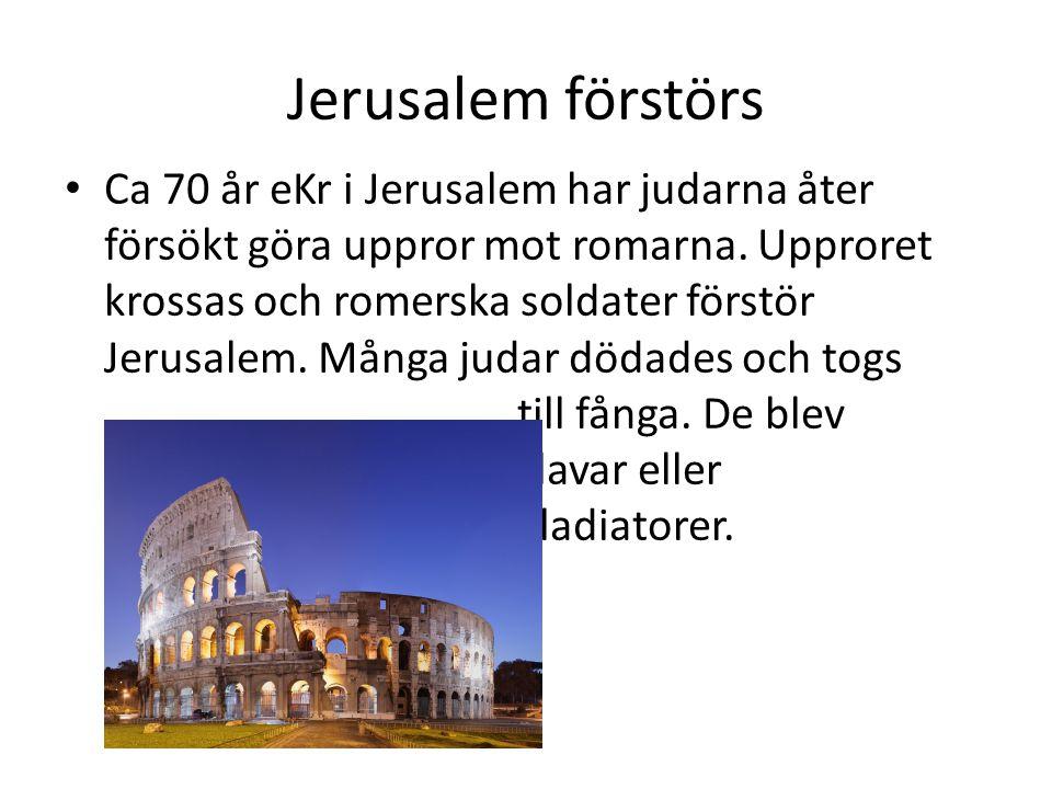 Jerusalem förstörs