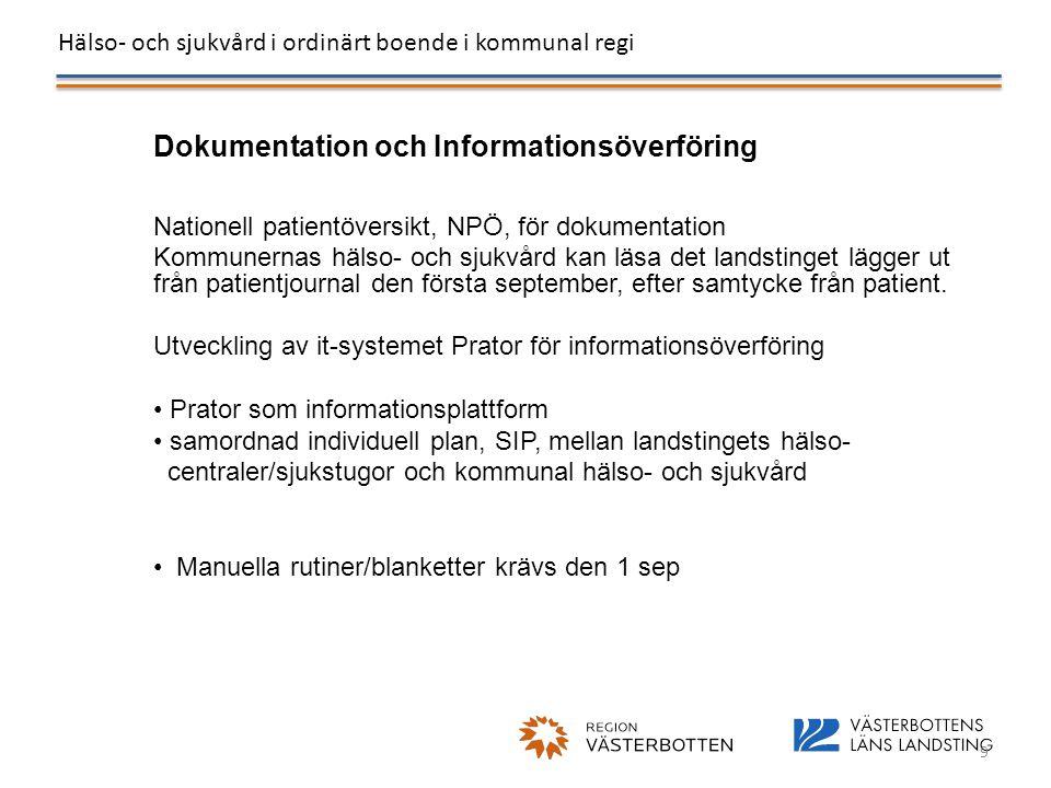 Dokumentation och Informationsöverföring