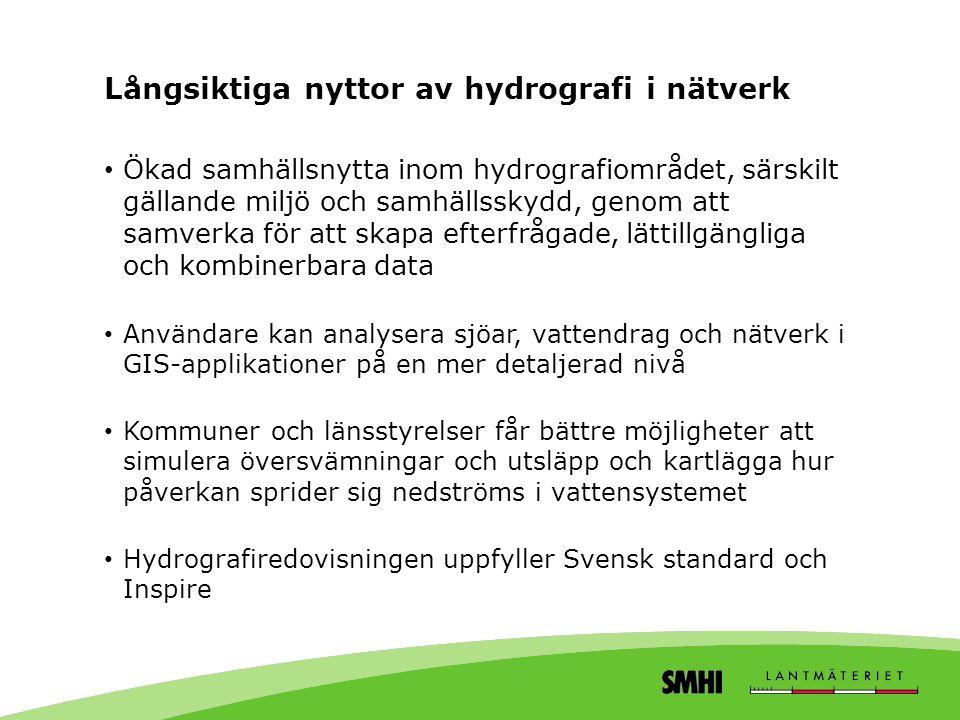 Långsiktiga nyttor av hydrografi i nätverk