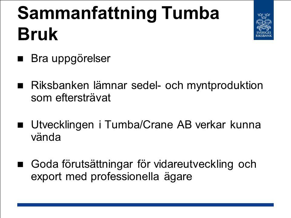 Sammanfattning Tumba Bruk