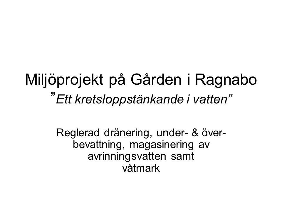 Miljöprojekt på Gården i Ragnabo Ett kretsloppstänkande i vatten