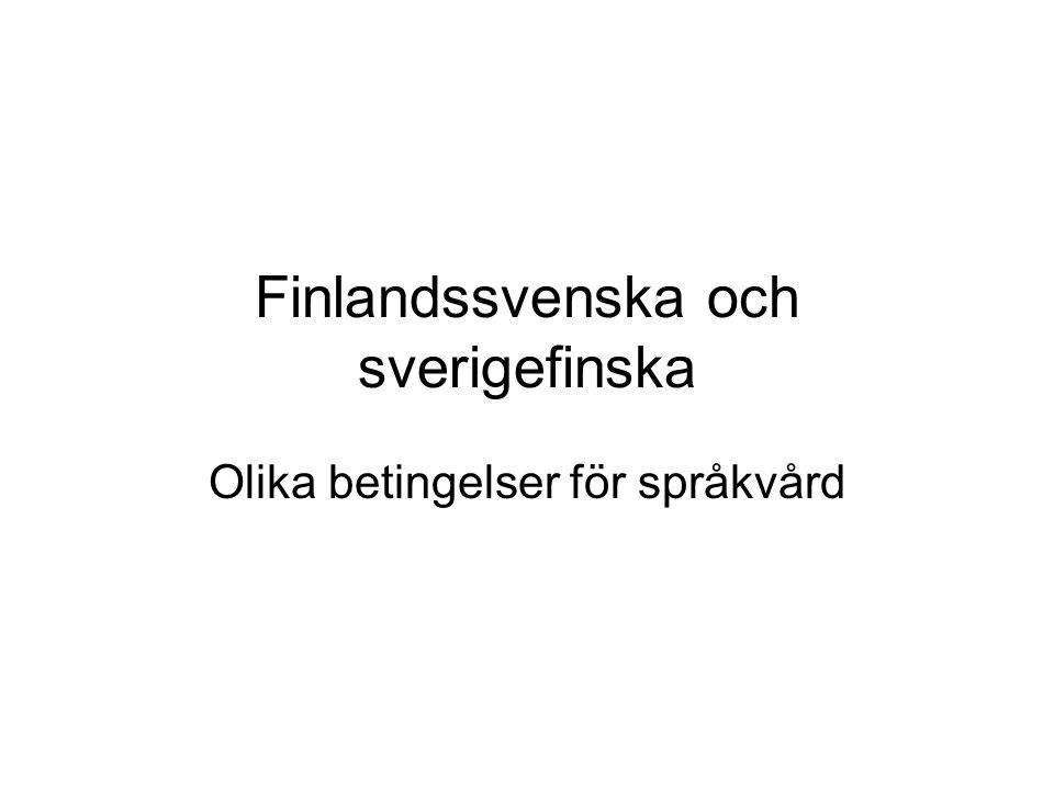 Finlandssvenska och sverigefinska