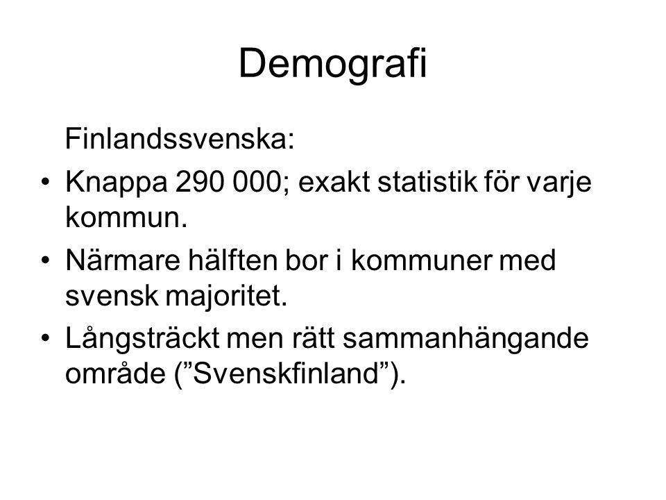 Demografi Finlandssvenska:
