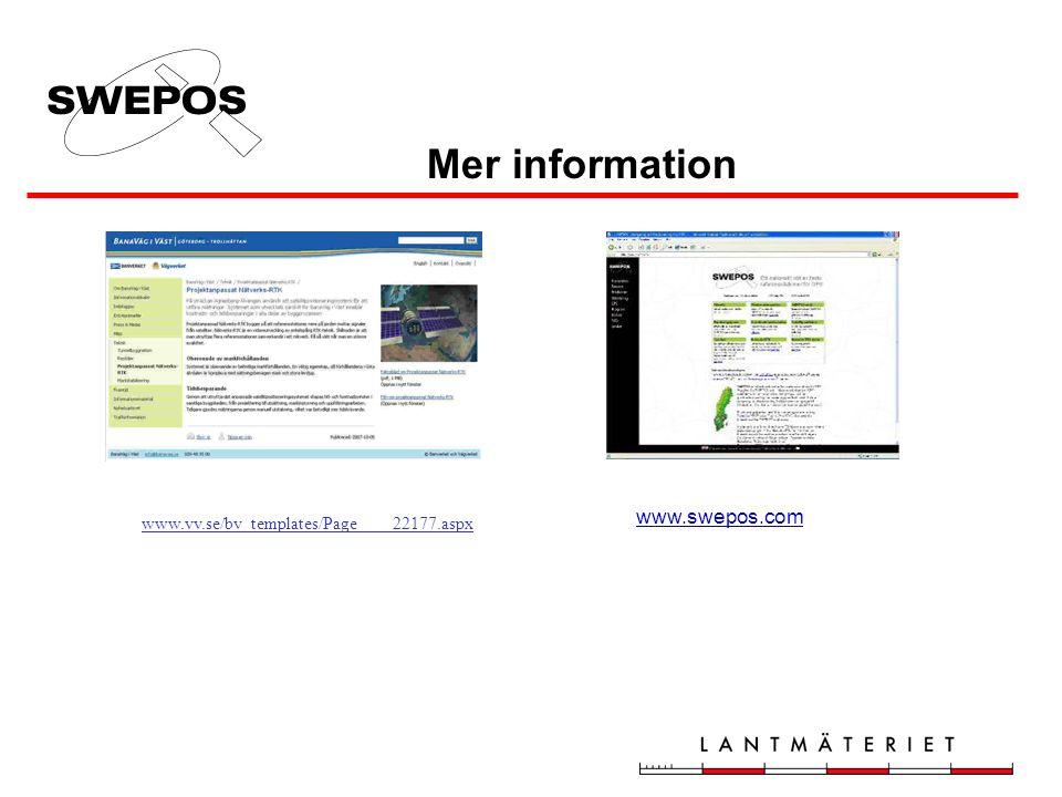 Mer information www.swepos.com