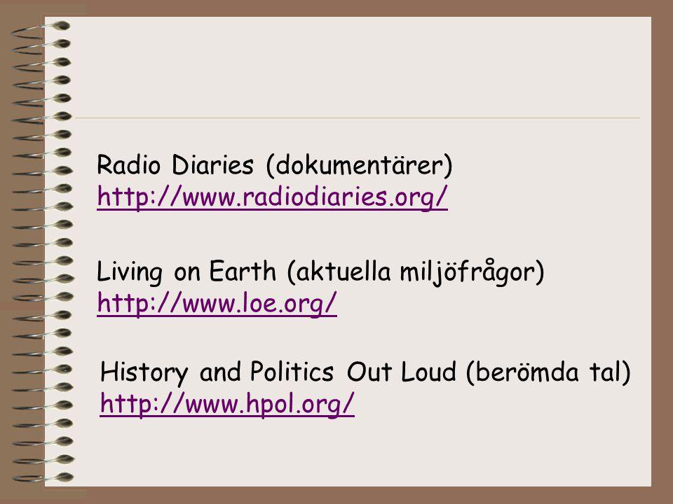 Radio Diaries (dokumentärer)