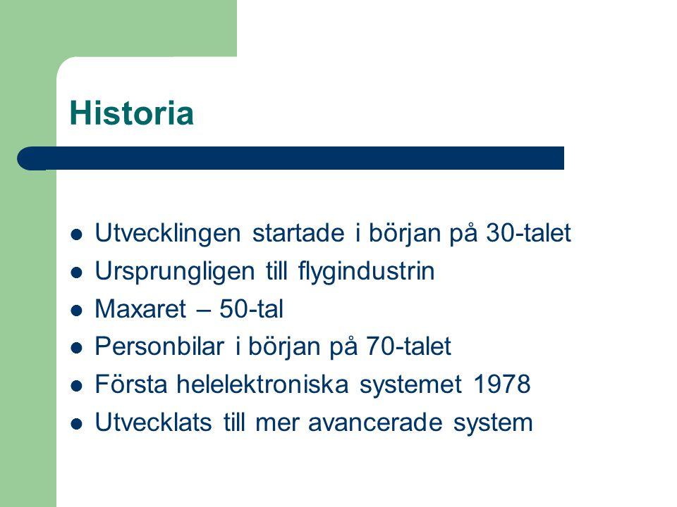 Historia Utvecklingen startade i början på 30-talet