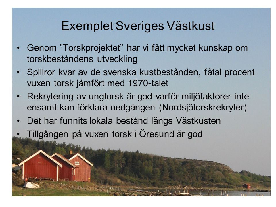Exemplet Sveriges Västkust