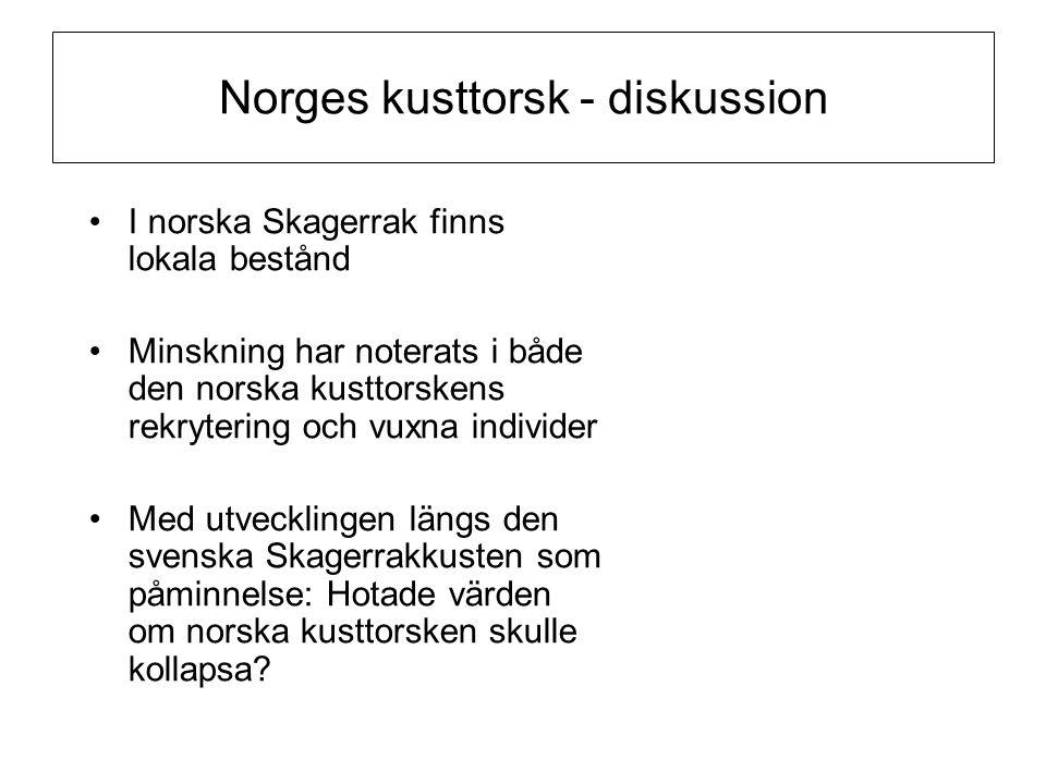Norges kusttorsk - diskussion