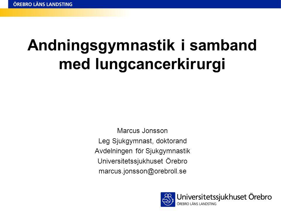 Andningsgymnastik i samband med lungcancerkirurgi