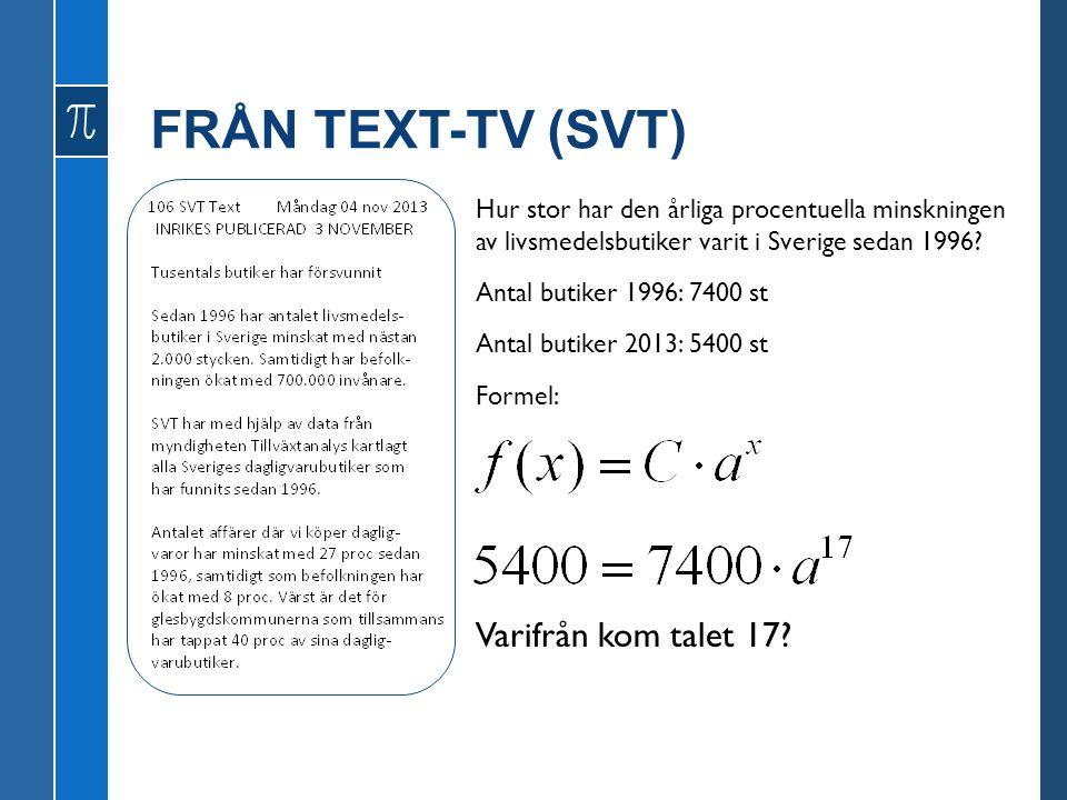 FRÅN TEXT-TV (SVT) Varifrån kom talet 17