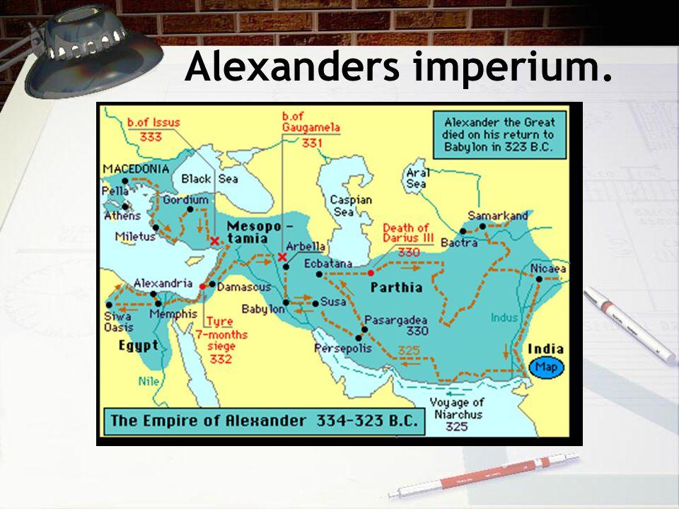 Alexanders imperium.