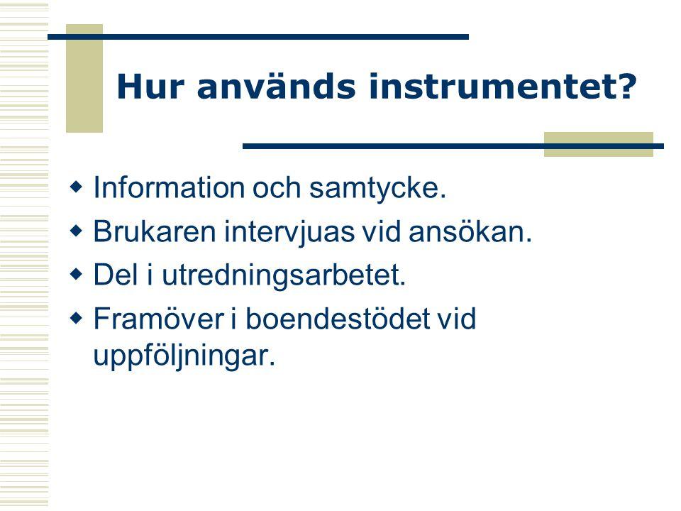 Hur används instrumentet