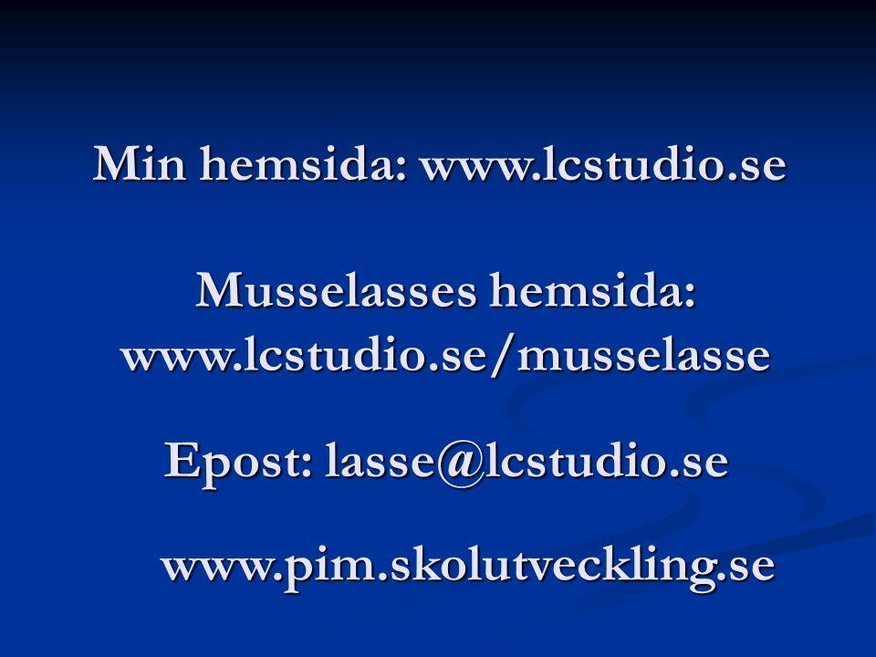 Epost: lasse@lcstudio.se