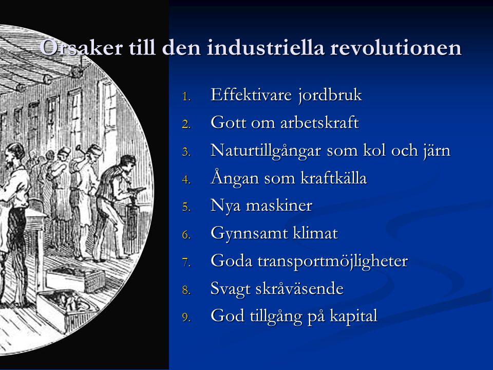 Orsaker till den industriella revolutionen