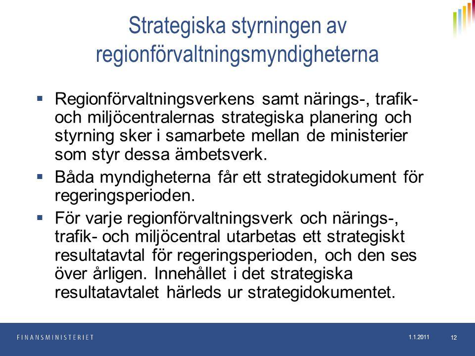 Strategiska styrningen av regionförvaltningsmyndigheterna