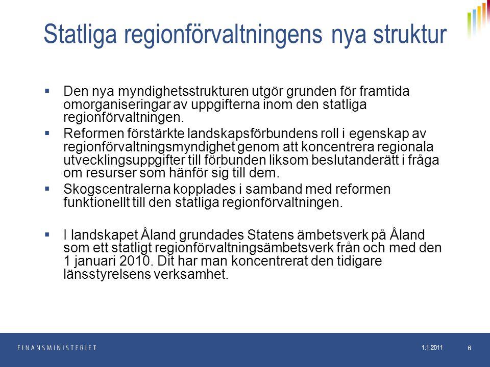 Statliga regionförvaltningens nya struktur