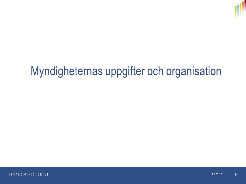 Myndigheternas uppgifter och organisation