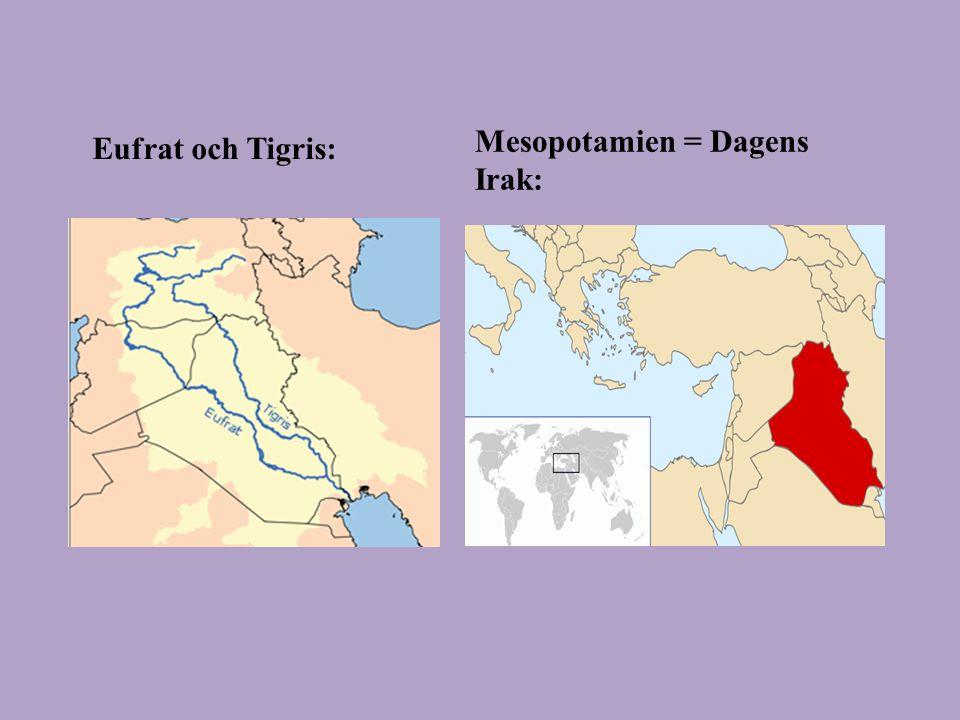 Mesopotamien = Dagens Irak: