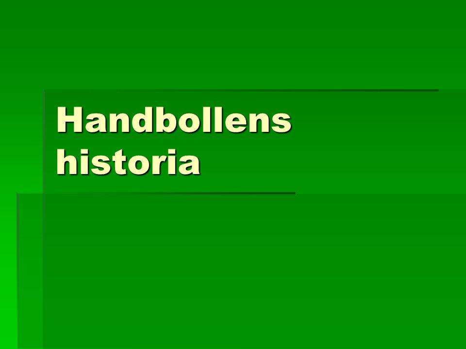 Handbollens historia