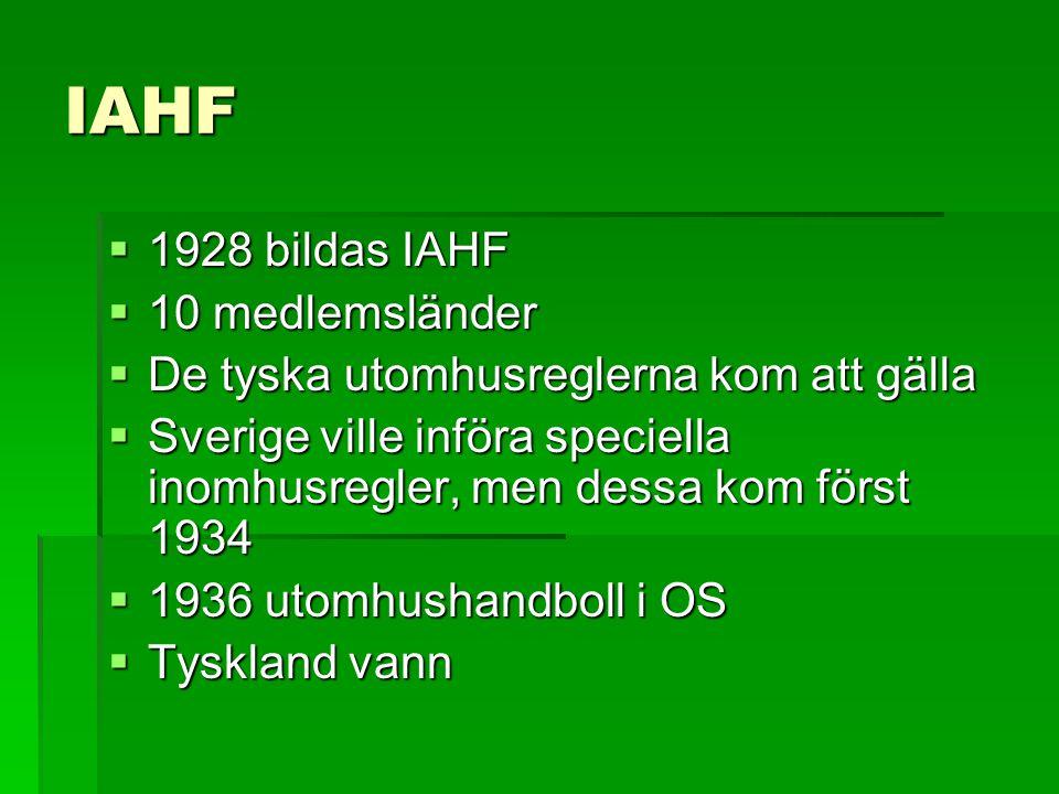 IAHF 1928 bildas IAHF 10 medlemsländer