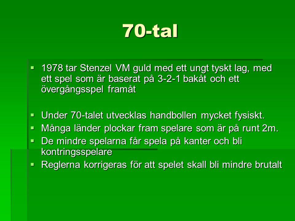 70-tal 1978 tar Stenzel VM guld med ett ungt tyskt lag, med ett spel som är baserat på 3-2-1 bakåt och ett övergångsspel framåt.