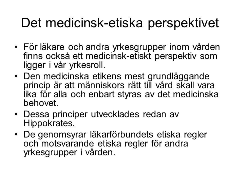 Det medicinsk-etiska perspektivet