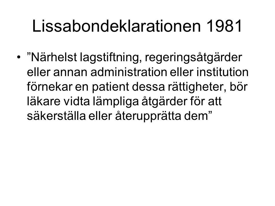 Lissabondeklarationen 1981
