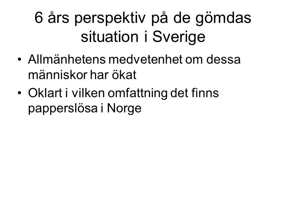 6 års perspektiv på de gömdas situation i Sverige
