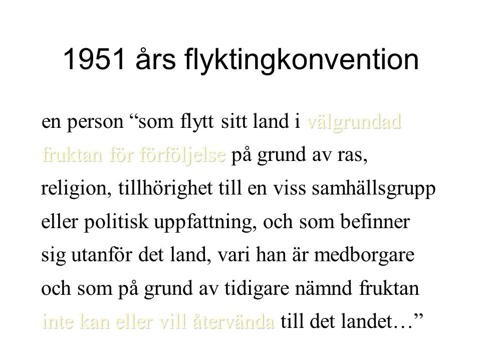 1951 års flyktingkonvention