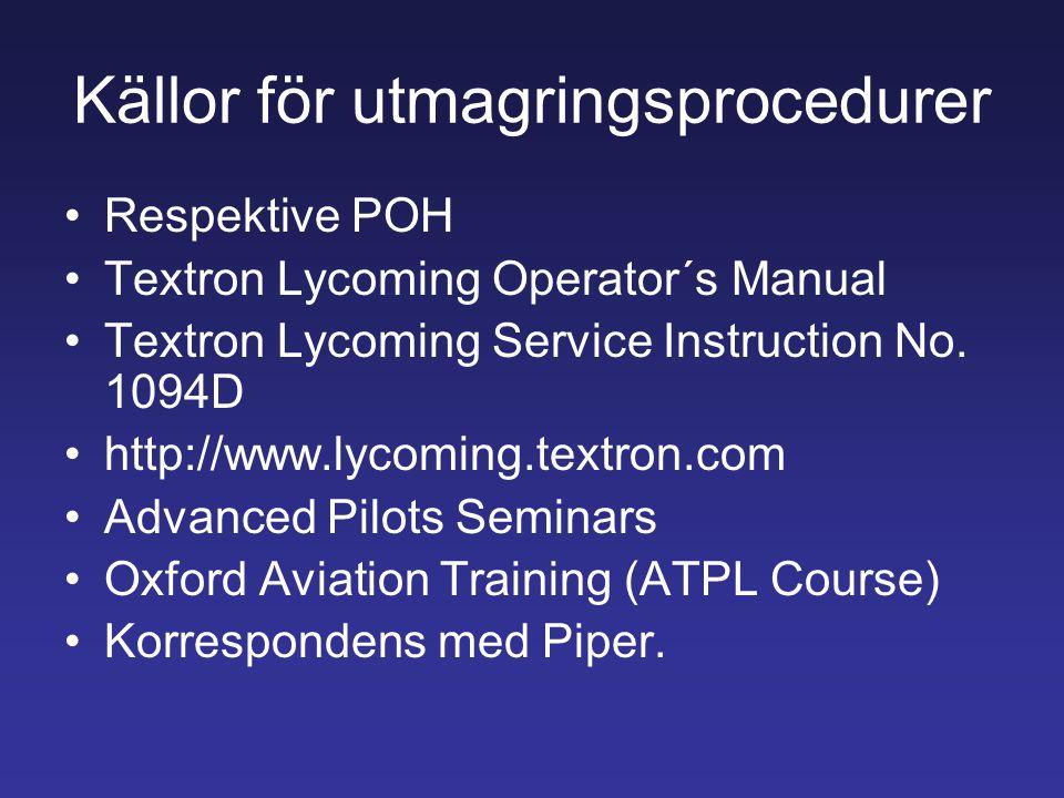 Källor för utmagringsprocedurer