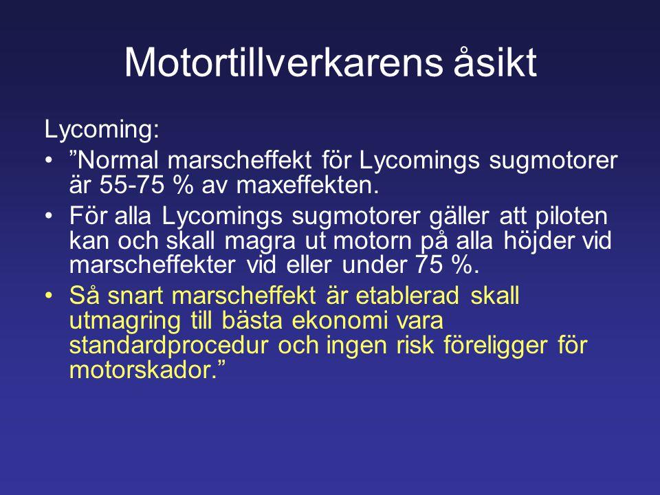 Motortillverkarens åsikt