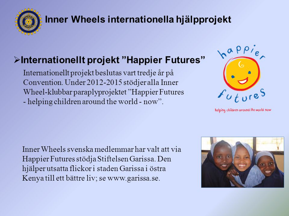 Inner Wheels internationella hjälpprojekt