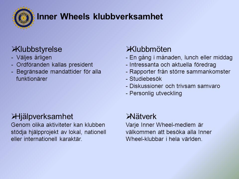 Inner Wheels klubbverksamhet