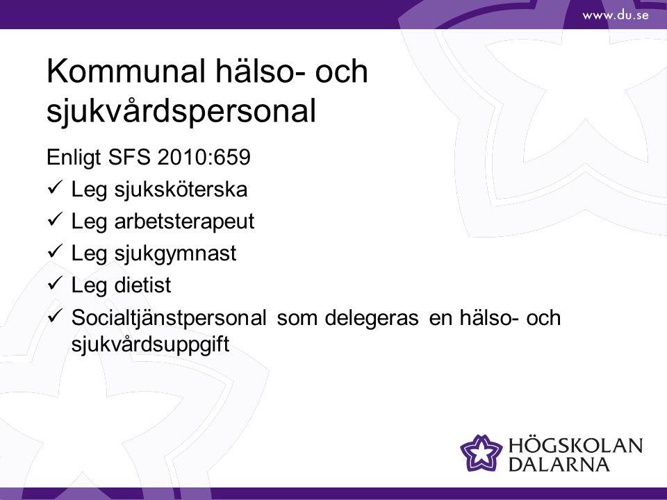 Kommunal hälso- och sjukvårdspersonal