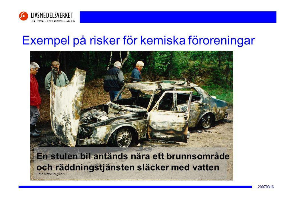Exempel på risker för kemiska föroreningar