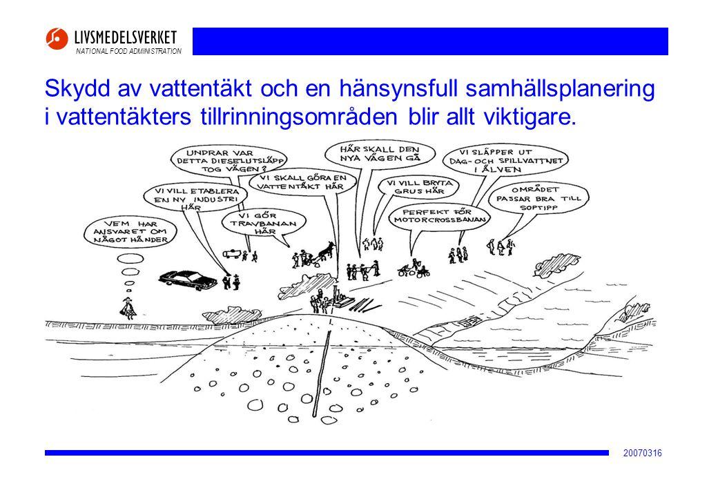 2017-04-02 Skydd av vattentäkt och en hänsynsfull samhällsplanering i vattentäkters tillrinningsområden blir allt viktigare.