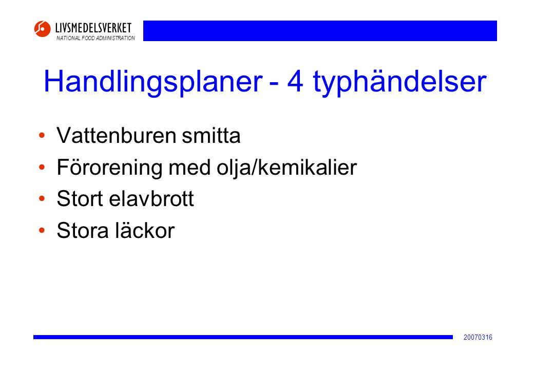 Handlingsplaner - 4 typhändelser