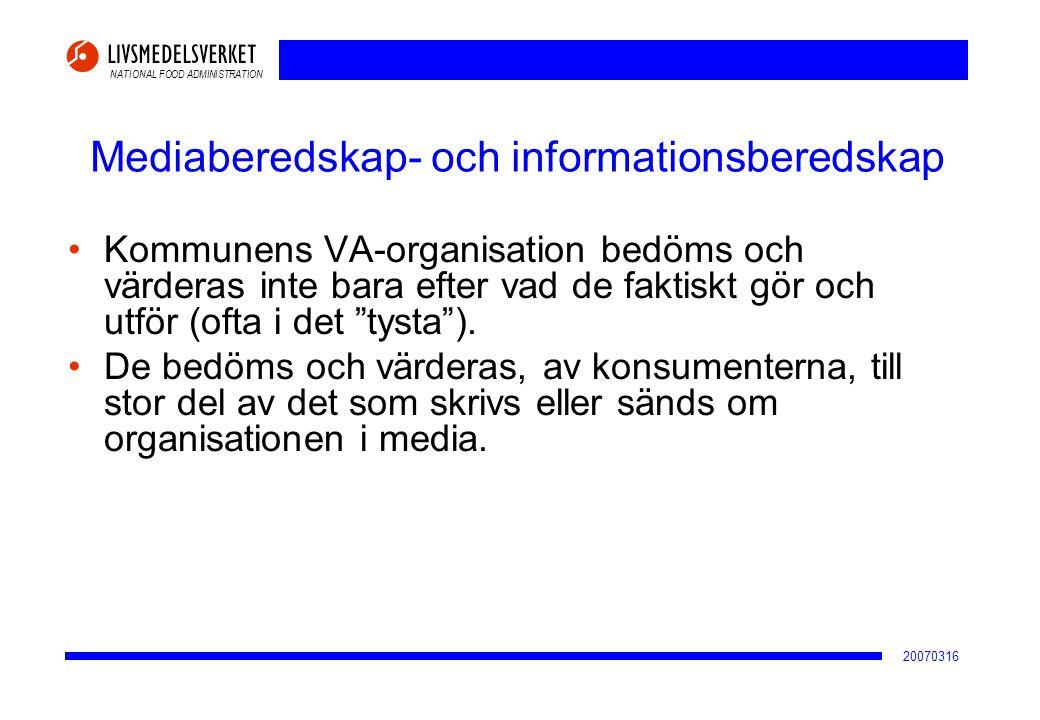 Mediaberedskap- och informationsberedskap