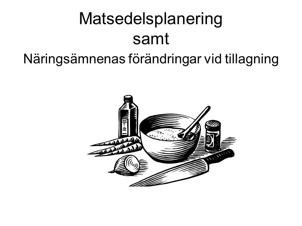 Matsedelsplanering samt