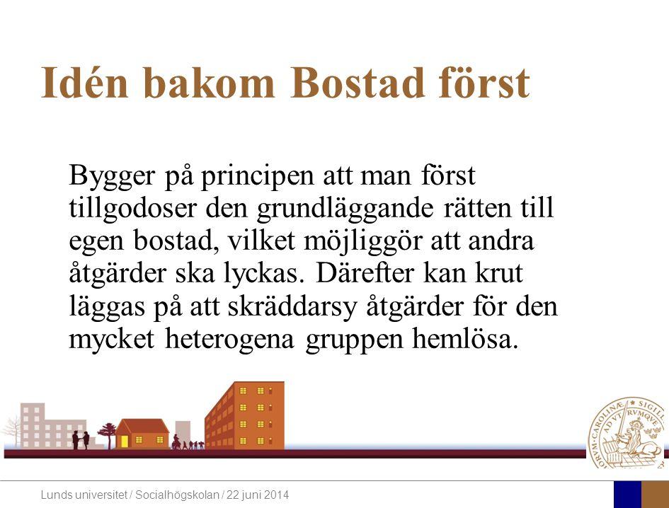 Idén bakom Bostad först
