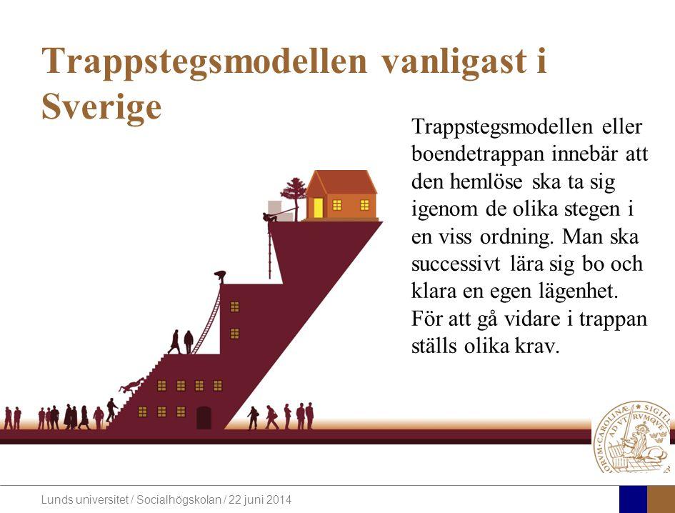Trappstegsmodellen vanligast i Sverige