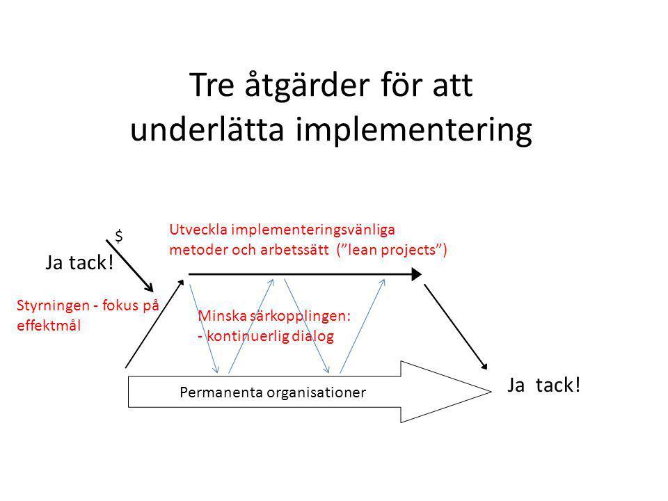 Tre åtgärder för att underlätta implementering