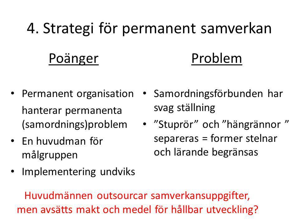 4. Strategi för permanent samverkan