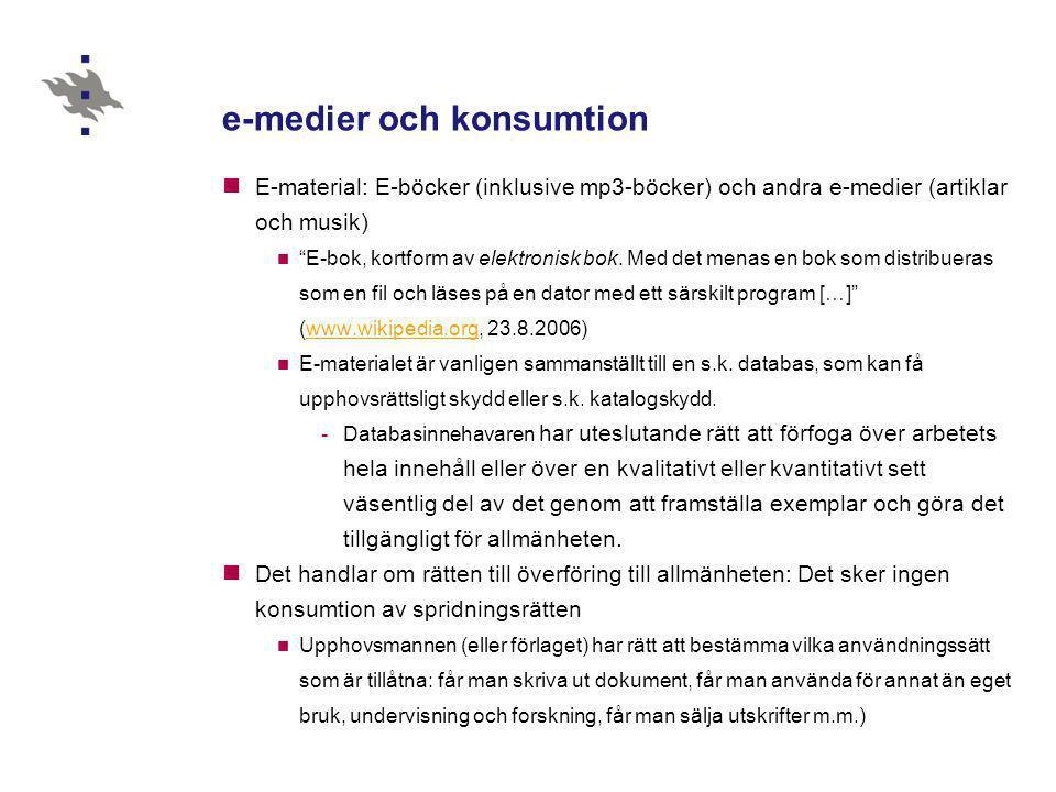 e-medier och konsumtion