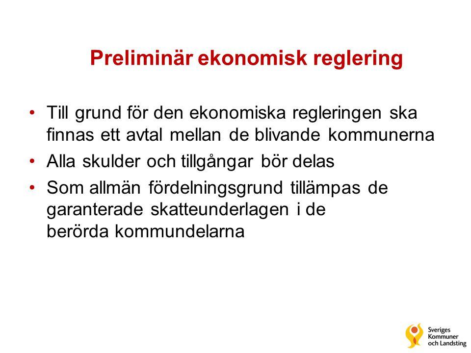 Preliminär ekonomisk reglering