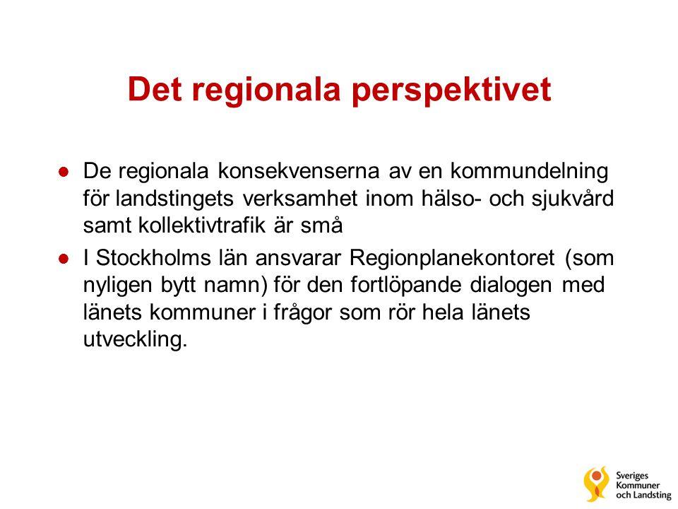 Det regionala perspektivet