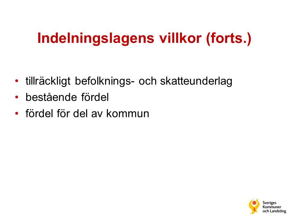 Indelningslagens villkor (forts.)