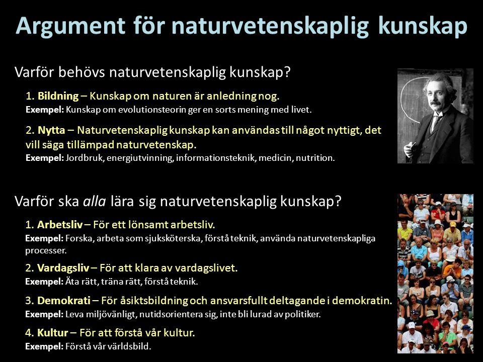 Argument för naturvetenskaplig kunskap