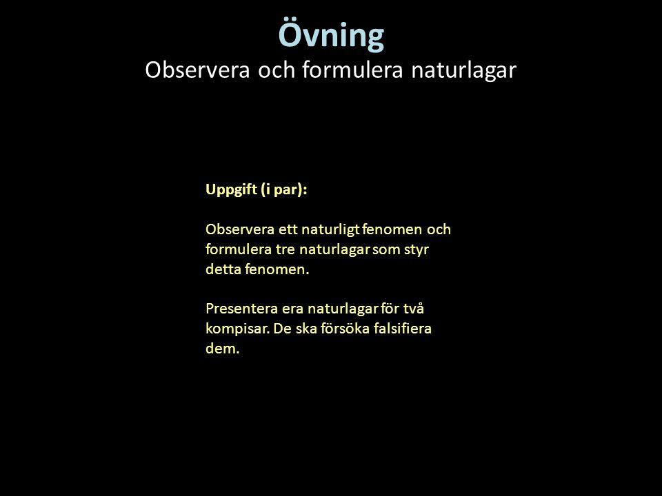 Observera och formulera naturlagar