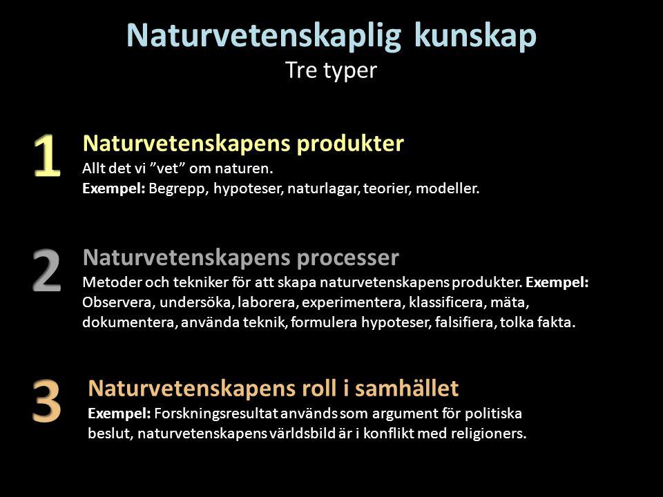 Naturvetenskaplig kunskap